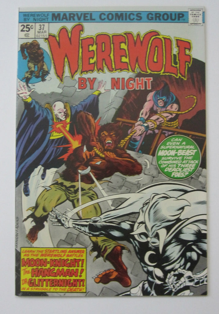 Werewolf By Night #37 (Mar 1976, Marvel) Moon Knight app High Grade VF/NM 9.0