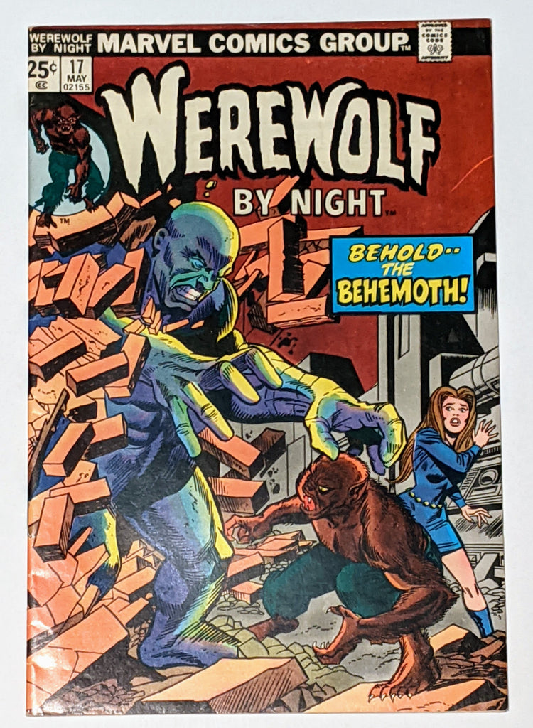 Werewolf by Night #17 (May 1974, Marvel) VF- 7.5 Gil Kane and Frank Giacoia cvr