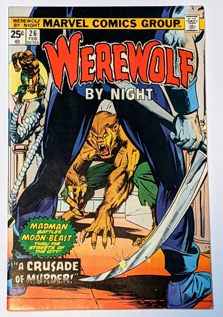 Werewolf by Night #26 (Feb 1975, Marvel) VF/NM 9.0 Hangman appearance