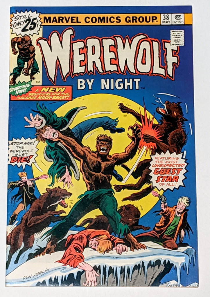 Werewolf by Night #38 (May 1976, Marvel) VF+ 8.5 Brother Voodoo cameo