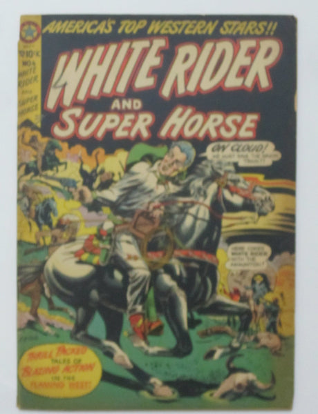 White Rider and Super Horse #4 (Sep 1950, Star) VG 4.0 L.B. Cole cover