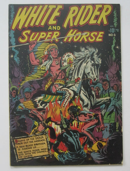 White Rider and Super Horse #6 (Mar 1951, Star) L.B. Cole cvr FN- 5.5