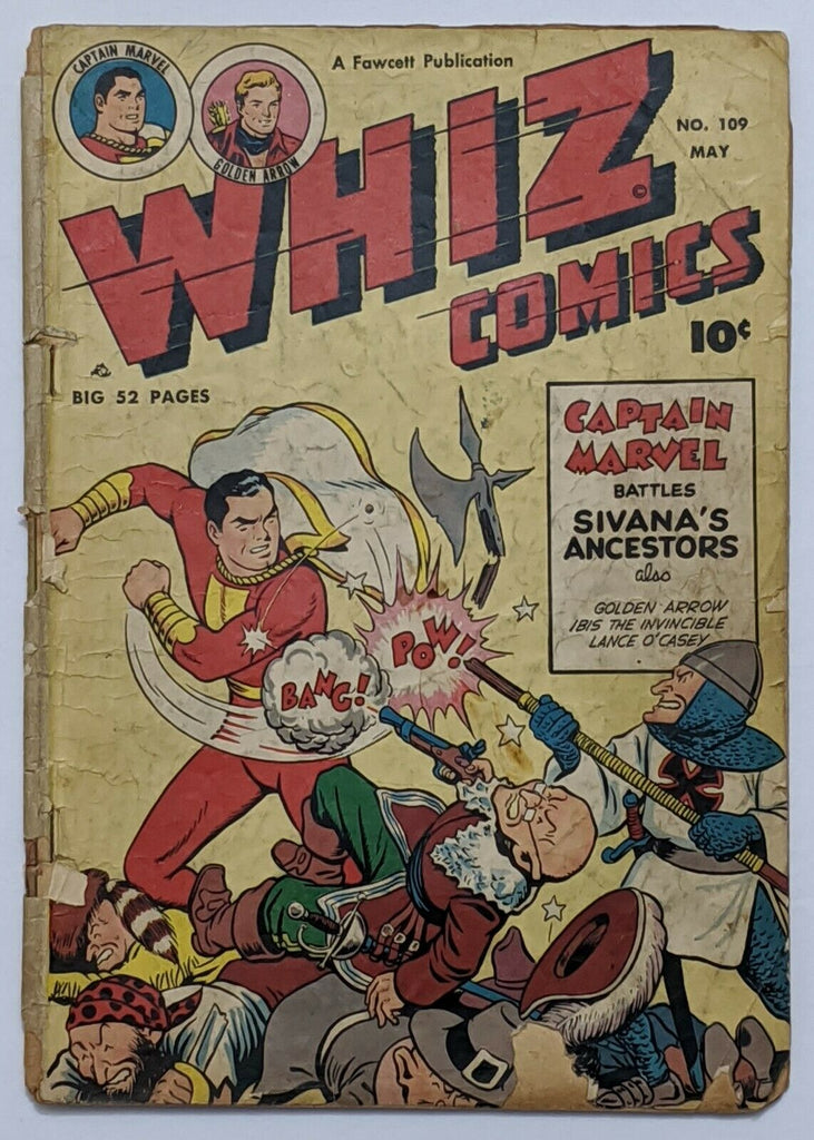 Whiz Comics #109 (May 1949, Fawcett) Good- 1.8 Wolverton and Schaffenberger art