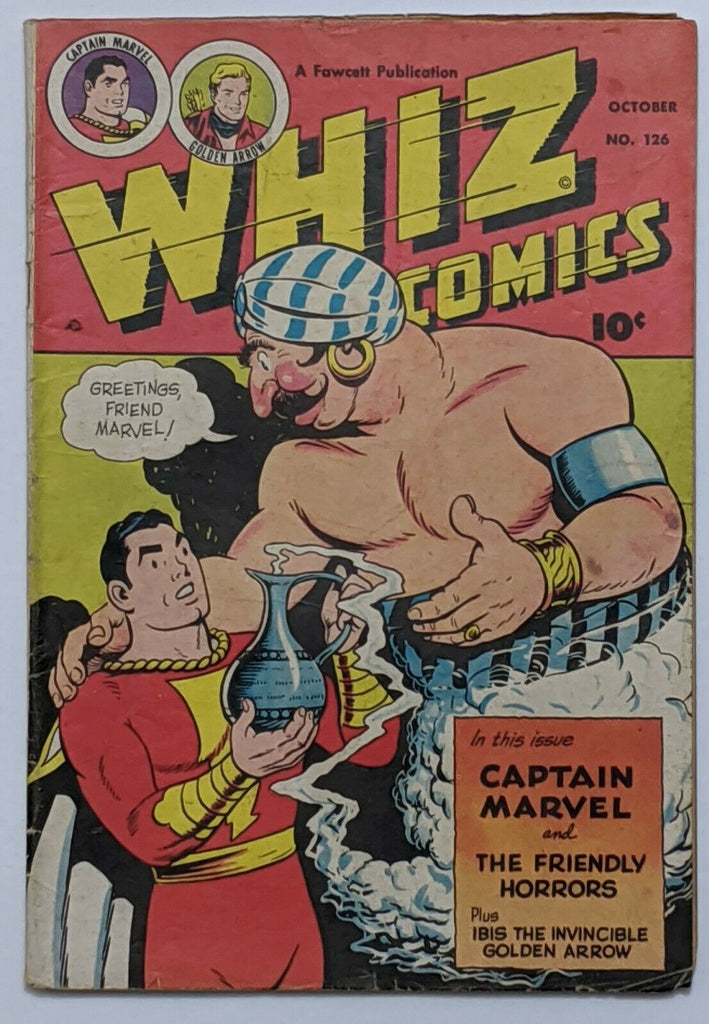 Whiz Comics #126 (Oct 1950, Fawcett) VG 4.0 Schaffenberger and Wolverton art Condition:--