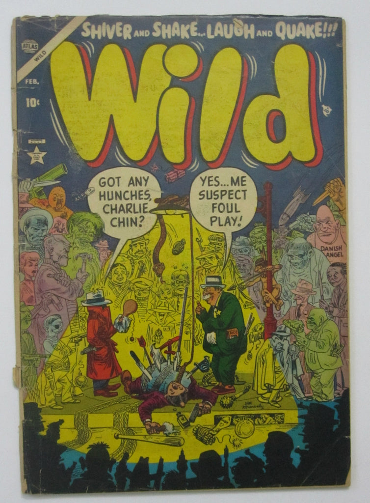 Wild #1 (Feb 1954, Atlas) Good- 1.8 Joe Maneely cvr, Burgos & Everett art