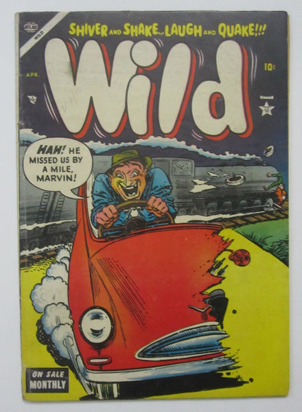 Wild #3 (Apr 1954, Atlas) VG 4.0 Carl Burgos cvr, Heath, Maneely, Everett art