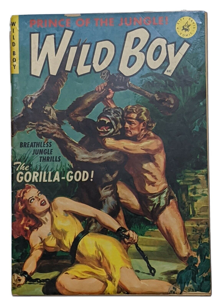 Wild Boy Prince Of The Jungle #1 (1950 Ziff-Davis) Norman Saunders cvr Good- 1.8