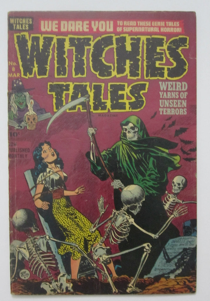 Witches Tales #8 (March 1952, Harvey) Bondage cvr VG+ 4.5