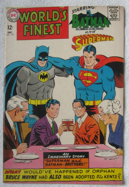 World's Finest Comics #172 (Dec 1967, DC) Adult Legion app VG/F 5.0