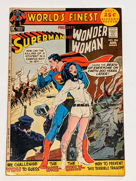 World's Finest # 204 (Aug 1971, DC) FN 6.0 Wonder Woman appearance