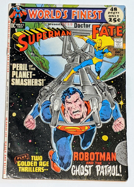 World's Finest # 208 (Dec 1971, DC) FN 6.0 Doctor Fate appearance Neal Adams cvr