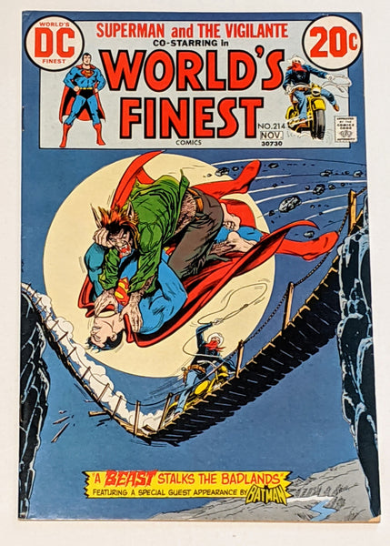 World's Finest # 214 (Nov 1972, DC) FN 6.0 Vigilante appearance Nick Cardy cover