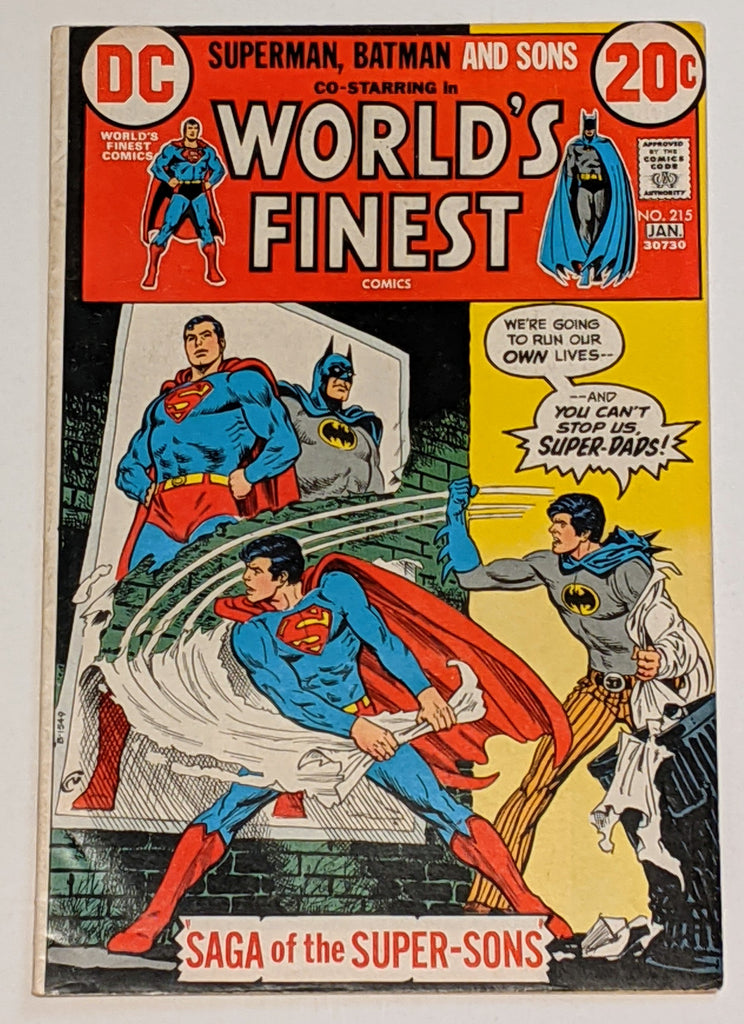 World's Finest # 215 (Jan 1973, DC) FN 6.0 Super-Sons appearance Nick Cardy cvr