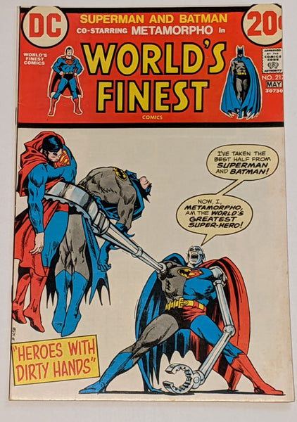 World's Finest # 217 (May 1973, DC) VF+ 8.5 Metamorpho appearance