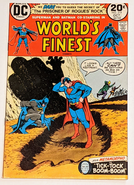 World's Finest # 219 (Oct 1973, DC) VF+ 8.5 Metamorpho backup story