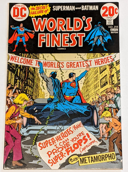 World's Finest # 218 (Aug 1973, DC) VF 8.0 Metamorpho backup story