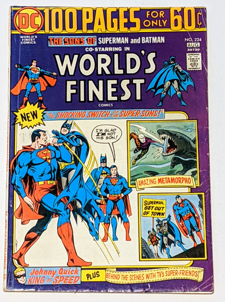 World's Finest # 224 (Aug 1974, DC) VG 4.0 100 pages Nick Cardy cover
