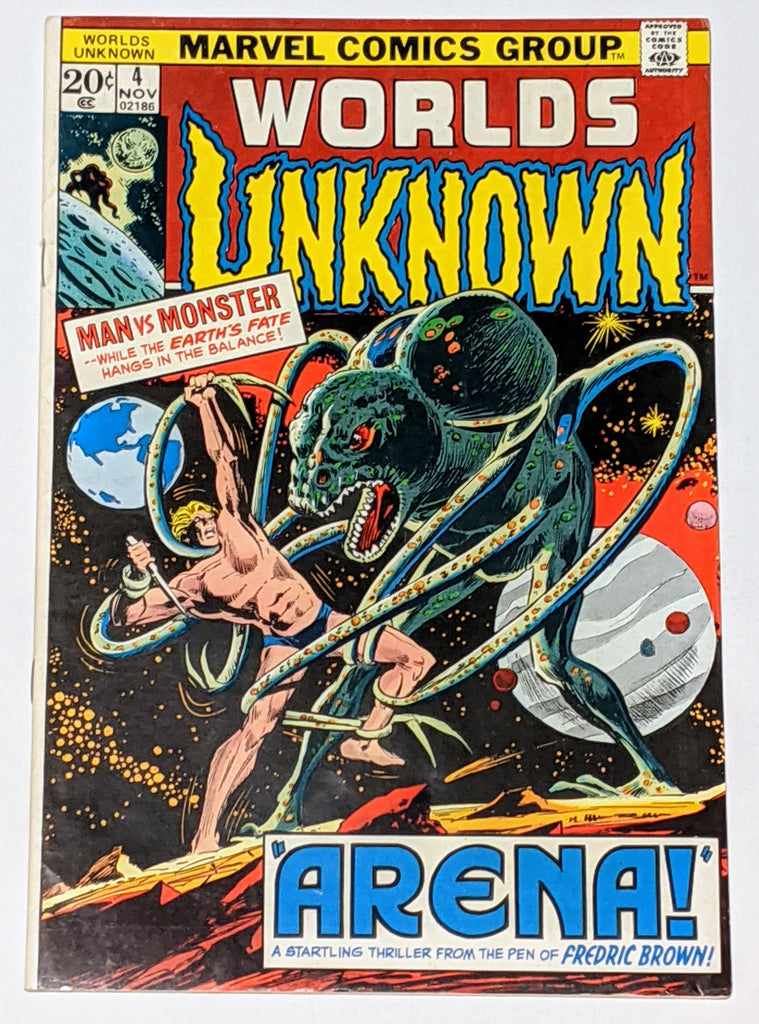 Worlds Unknown #4 (Nov 1973, DC) F/VF 7.0 Adaptation of Fredric Brown's Arena