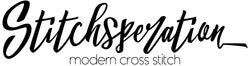 Stitchsperation modern cross stitch logo