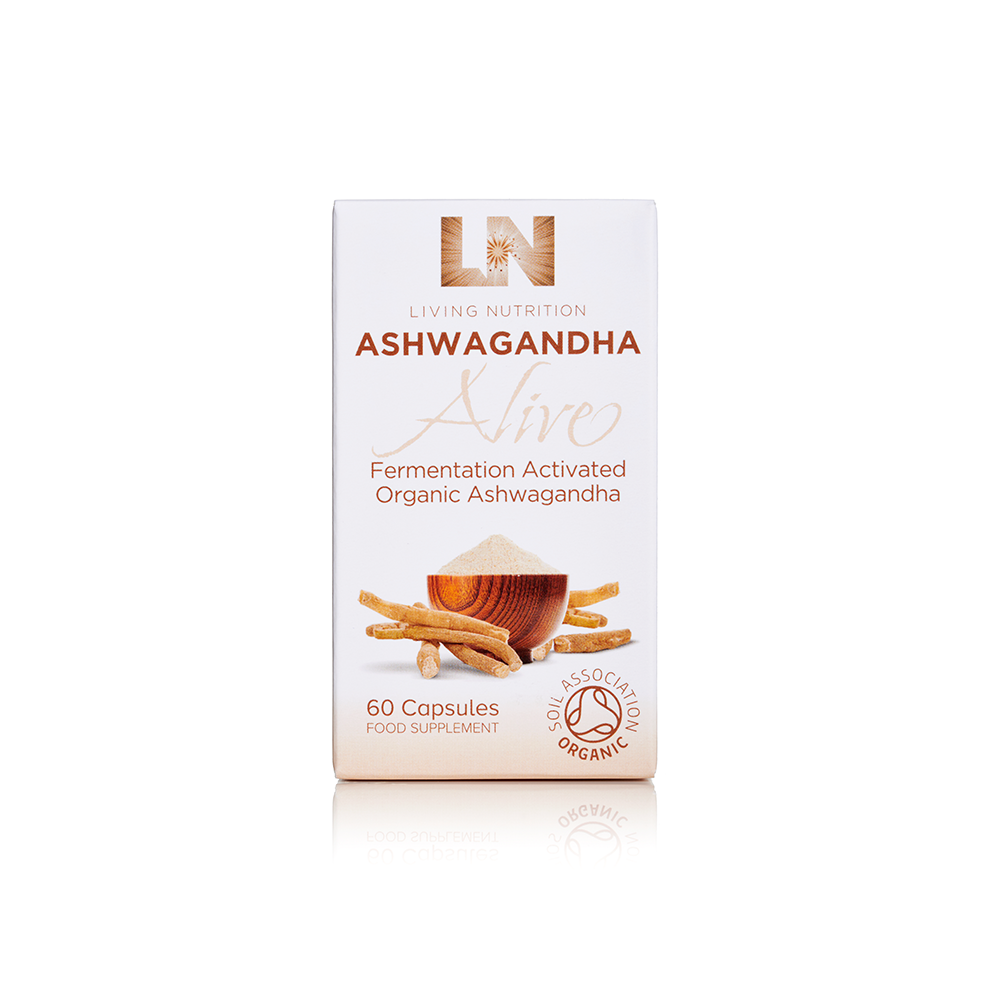Load image into Gallery viewer, Organic Ashwagandha Alive Capsules 60s