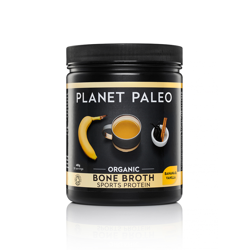 Organic Bone Broth Sports Protein Vanilla and Banana 480g