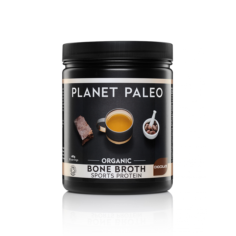 Organic Bone Broth Sports Chocolate Protein 480g