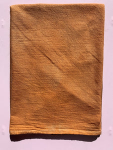 Hand Dyed Flour Sack Towel Orange