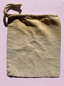 Naturally Dyed Draw String Project Bags