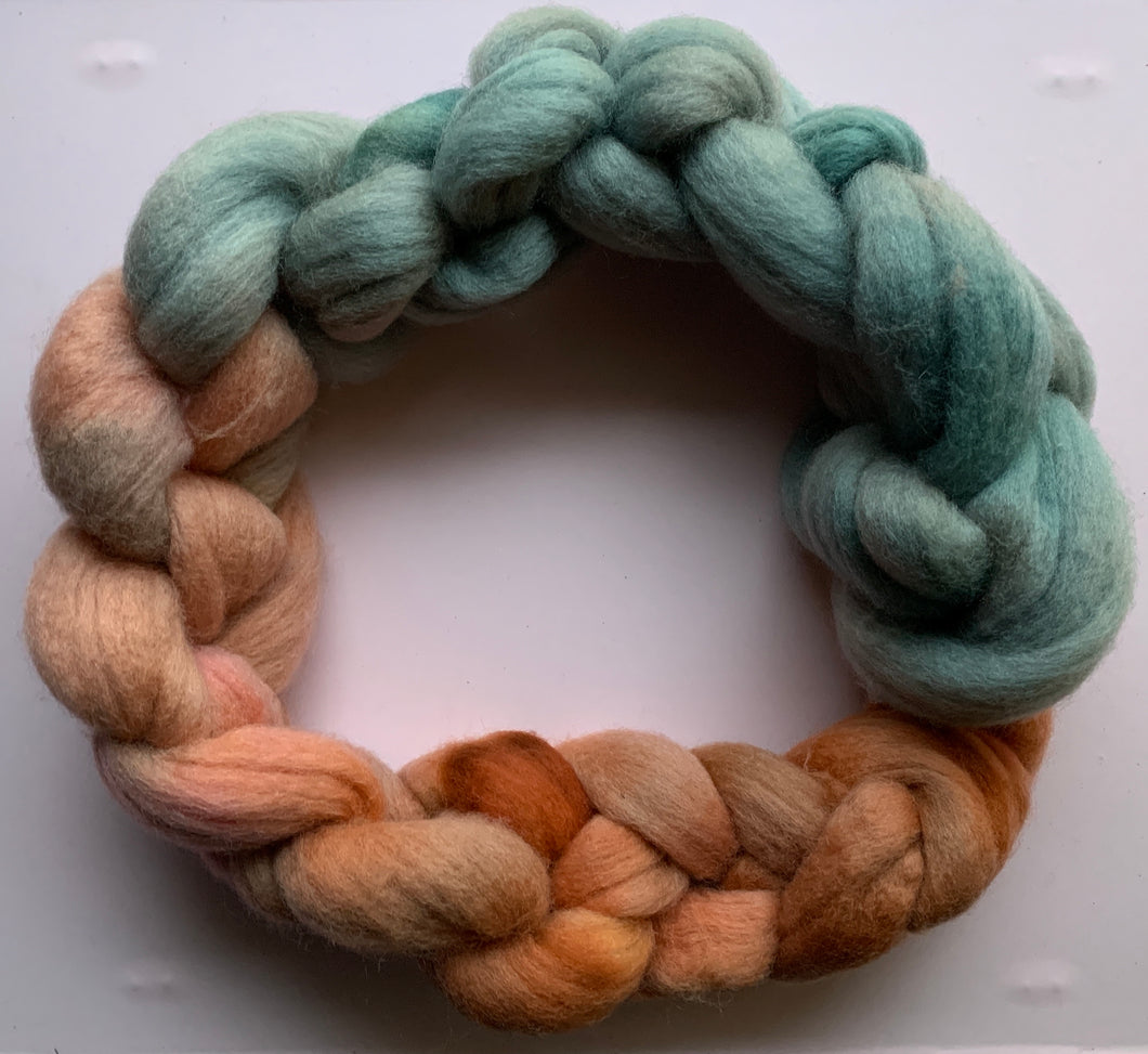 Hand Dyed Falkland Roving - You're a Mermaid Baby