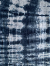 Load image into Gallery viewer, Hand Dyed Flour Sack Towel Navy White