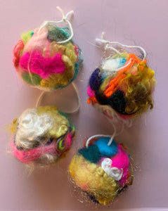 Wildly Felted Ornaments