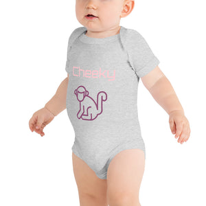 Pink Cheeky Monkey Baby Grow