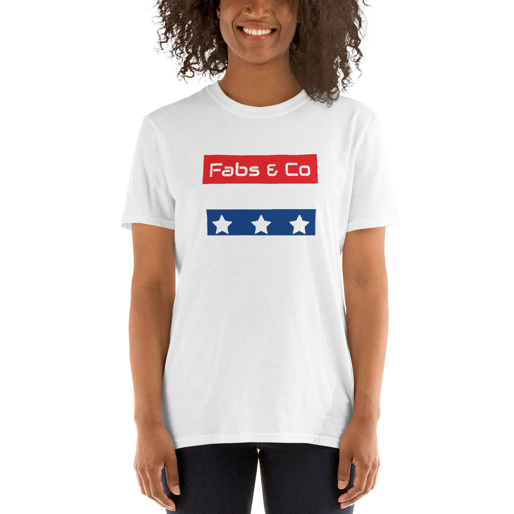 Stars and Stripes Wordmark Logo Womens T-Shirt