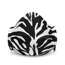 Load image into Gallery viewer, Zebra Print Premium Face Mask