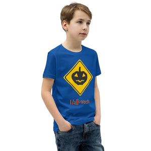 Halloween Pumpkin Sign Boys Short Sleeve T-Shirt