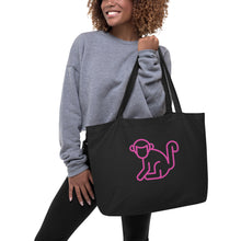 Load image into Gallery viewer, Large Hot Pink Logo Organic Tote Bag