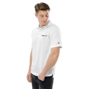 Fabs & Co x Champion Black Wordmark Logo Mens Polo
