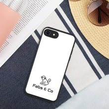 Load image into Gallery viewer, Black Original Logo White Biodegradable Phone Case