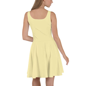 Yellow Womens Skater Dress