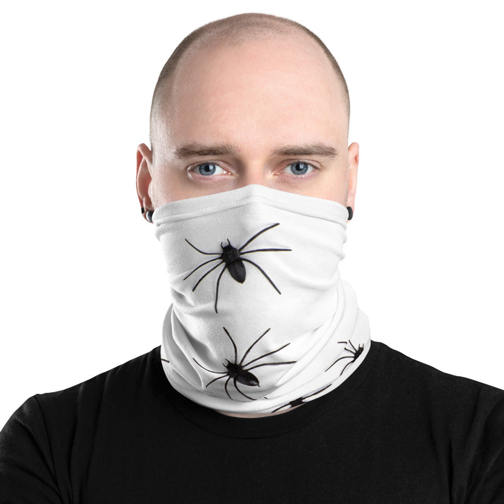 White Spider Print Face Mask/Neck Gaiter