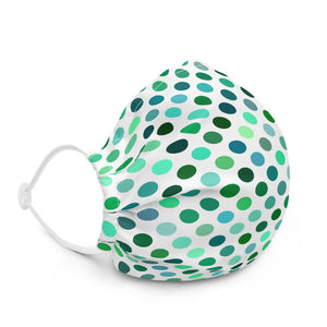 Green Polka Dot Premium Face Mask