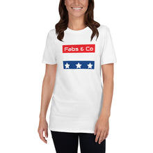Load image into Gallery viewer, Stars and Stripes Wordmark Logo Womens T-Shirt