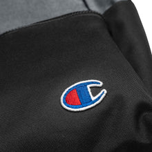 Load image into Gallery viewer, Fabs & Co x Champion Embroidered Black Logo Backpack