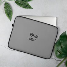 Load image into Gallery viewer, Black Logo Grey Laptop Sleeve