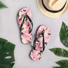 Load image into Gallery viewer, Pink Camo Womens Flip-Flops