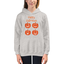 Load image into Gallery viewer, Halloween Pumpkins Girls Hoodie