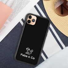 Load image into Gallery viewer, White Original Logo Black Biodegradable Phone Case