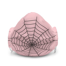 Load image into Gallery viewer, Halloween Spider Web Pink Face Mask