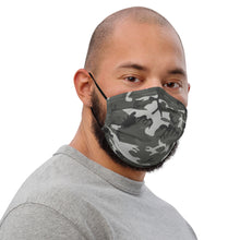 Load image into Gallery viewer, Grey Camo Premium Face Mask