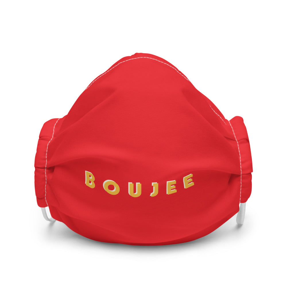 Boujee Premium Red Face Mask